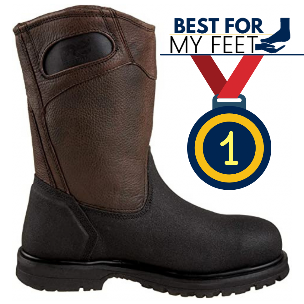 the editor's choice showing a timberland work boot as being the best pull on work boot on the market