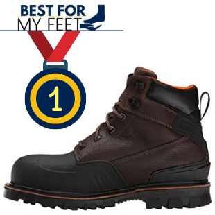this is a work boot from the brand called Timberland PRO and it's the editor's chocie when it comes to the best waterproofed work boot