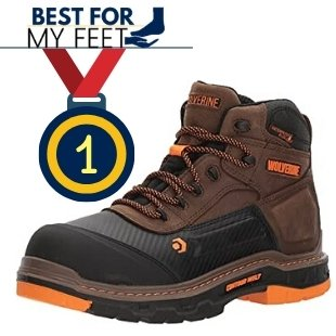 a comfortable work boot from the brand wolverine and a medal for being the best for comfort