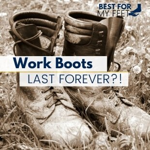 a pair of very old work boots