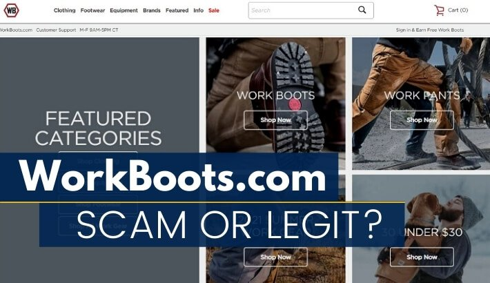 a screen capture from the workboots.com online store