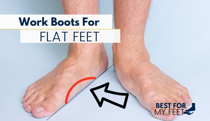 a person showing its flat feet condition and a graph showing what's the difference between a normal foot and a foot with fallen arches.